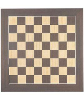 Luxe schaakbord wenge en esdoorn 60 cm - veldmaat 60 mm - maat 7