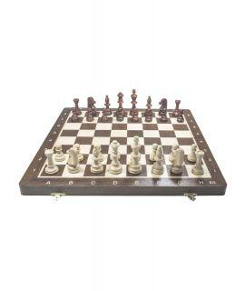 Chess set Staunton 4 foldable 38 cm - wenge inlaid
