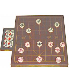 Xiang-Qi  set with drawer 30 x 34 cm - chinese chess set